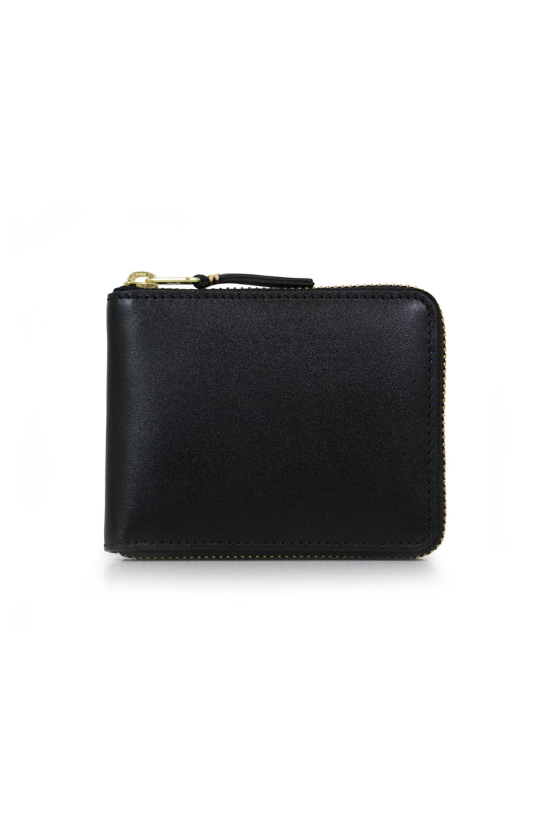 CLASSIC LEATHER ZIP WALLET BLACK