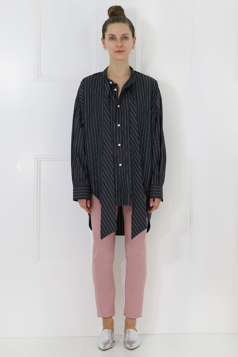 NEW SWING SHIRT L/S BLACK/WHITE/PINK