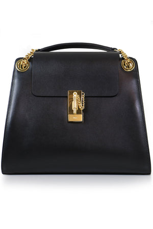 ANNIE SHOULDER BAG BLACK/GOLD