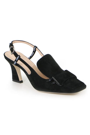 SQUARE TOE SLINGBACK 65MM BLACK