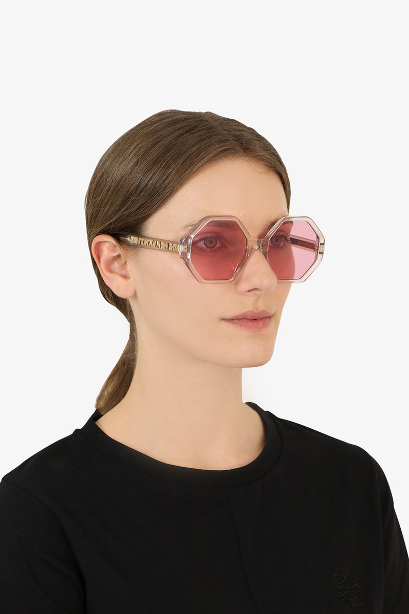 WILLOW BIO ACETATE SUNGLASSES PINK