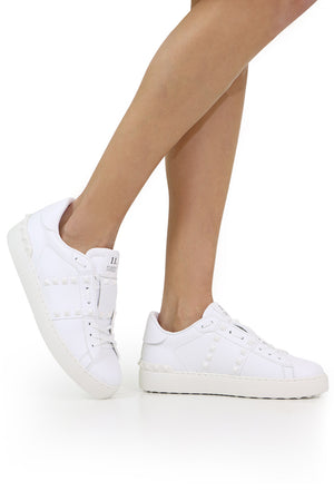 ROCKSTUD UNTITLED OPEN SNEAKER WHITE/WHITE