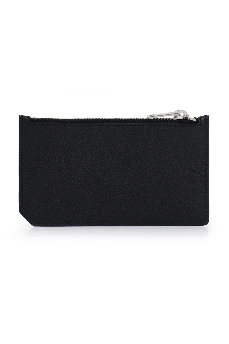 ZIPPED FRAGMENTS CARD CASE BLACK/SILVER