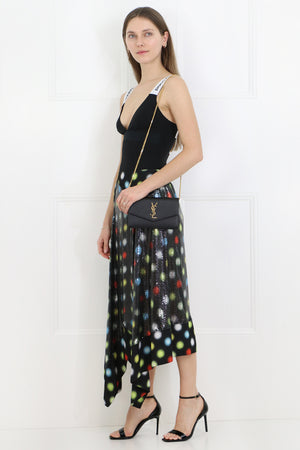 SPOTLIGHT MINI MESH SKIRT BLACK/MULTI
