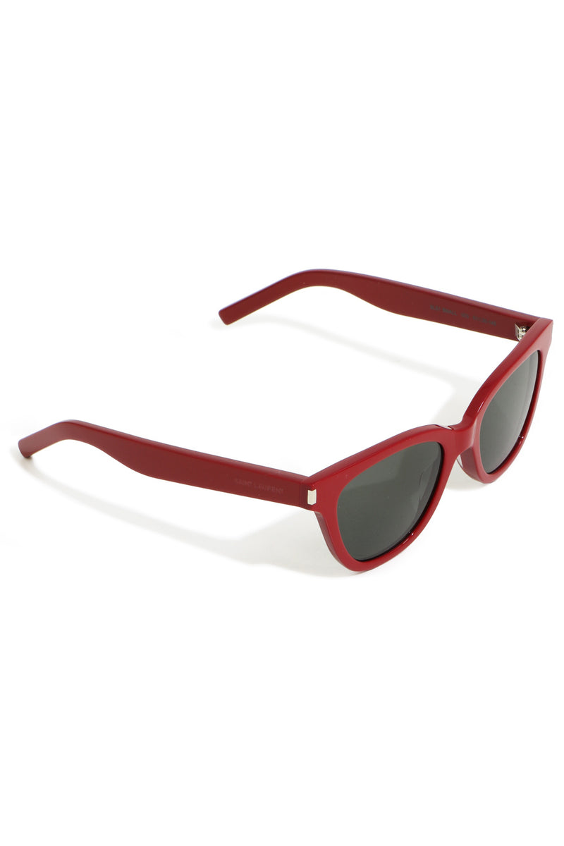 STRAIGHT TOP WAYFARER SUNGLASSES RED/GREY