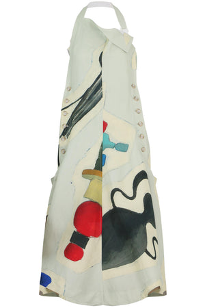 TABLIER CERAMIC PRINT DRESS S/LESS MULTI