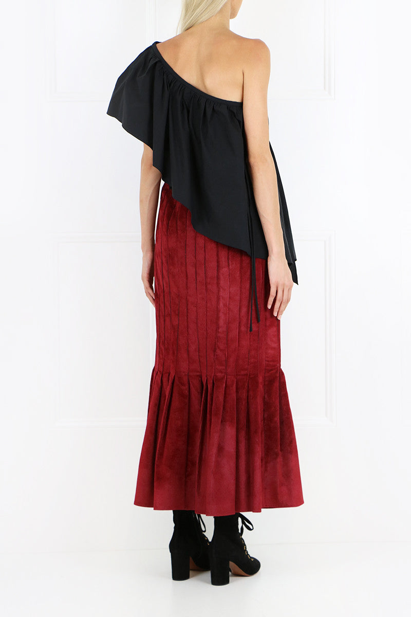 RATIONAL SKIRT VELVET CORD RUST