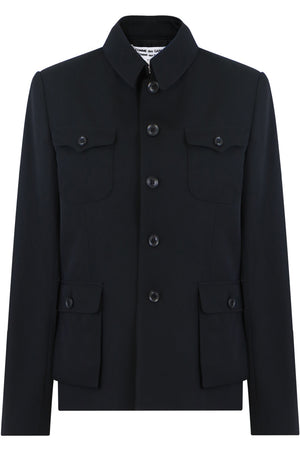 JACKET WITH BUTTON DETAIL BLACK
