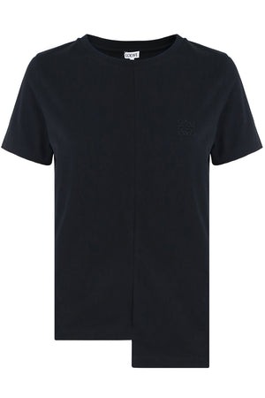 ASYMMETRIC T-SHIRT S/S BLACK