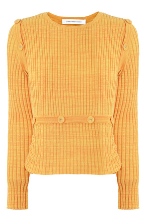 DECONSTRUCTED L/S KNIT TOP MANGO MARLE
