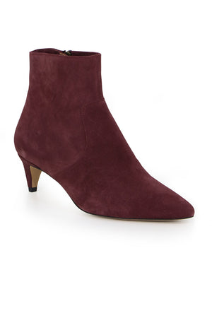 DERST ANKLE BOOT BURGUNDY SUEDE