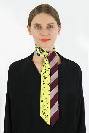 WONDERS WRAPPY SCARF YELLOW STRIPE