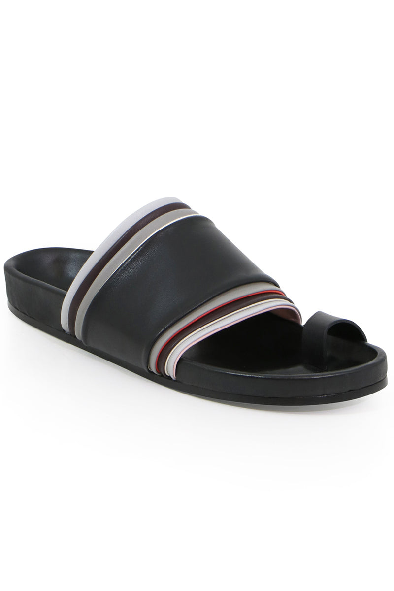LAYERED THONG SLIDE BLACK/MULTI