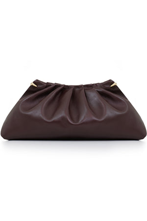 PLEAT CLUTCH PLUM