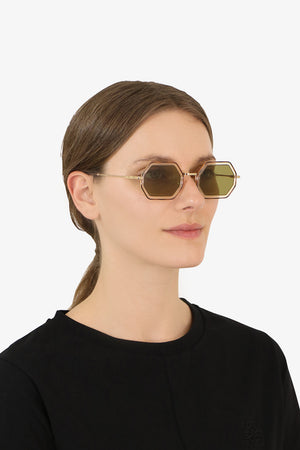 TALLY METAL SUNGLASSES HAVANA/KHAKI