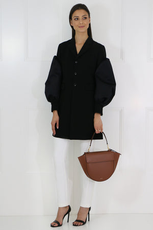TAILORED PUFF SLEEVE JACKET BLACK