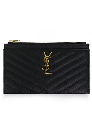 MONOGRAMME SMALL BILL POUCH BLACK/GOLD