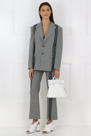 TWEED PANTS WITH PINSTRIPE BLACK/WHITE