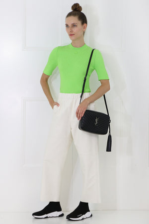 RIB KNIT S/S DAYGLOW GREEN