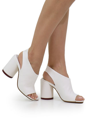 OPEN TOE SANDAL BRIGHT WHITE
