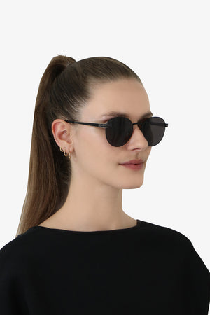 M65 ROUND METAL SUNGLASSES BLACK