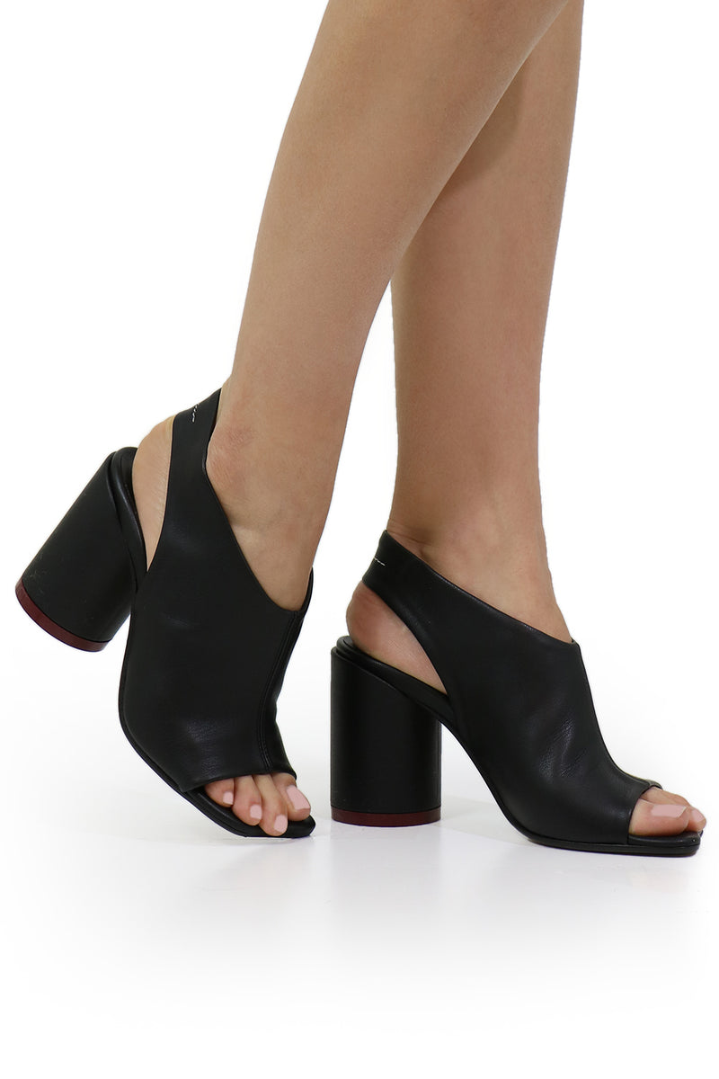 OPEN TOE SANDAL BLACK