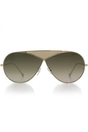 ROUND PUZZLE SUNGLASSES GOLD