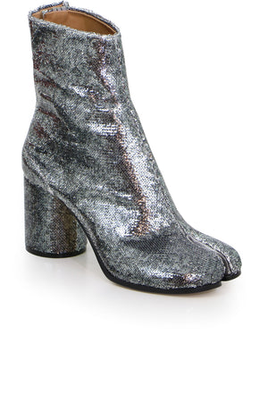 CLASSIC TABI ANKLE BOOT SILVER SEQUIN