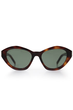 M60 OVAL SUNGLASSES HAVANA GREEN