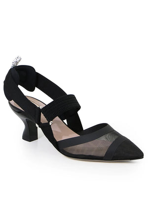 LOGO SLINGBACK 55MM BLACK