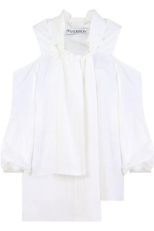 PUFF SLEEVE BLOUSE L/S WHITE