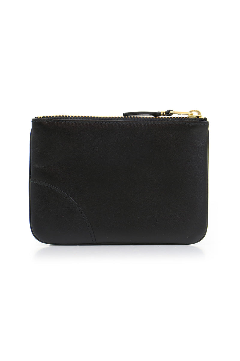 SMALL CLASSIC LEATHER POUCH BLACK