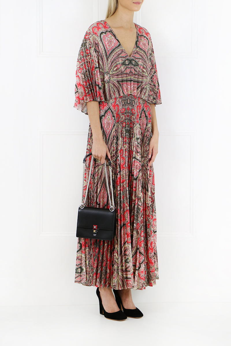 SYLWIA MAXI PAISLEY PRINT DRESS RED