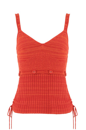DECONSTRUCT KNIT CAMI S/LESS RED MARLE