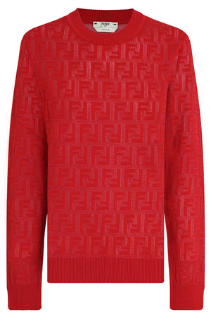 LOGO KNIT TOP L/S RED