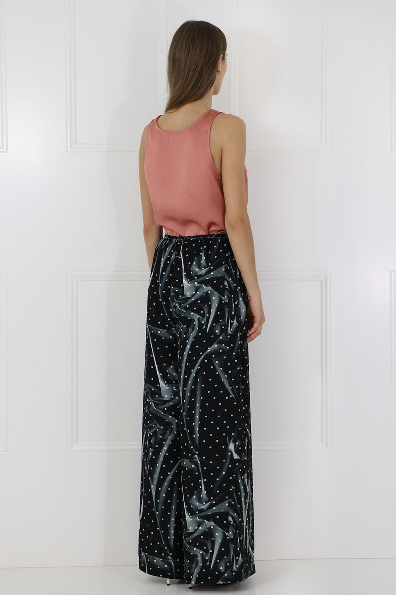 GRAPHIC PRINT POLKADOT PANT BLACK