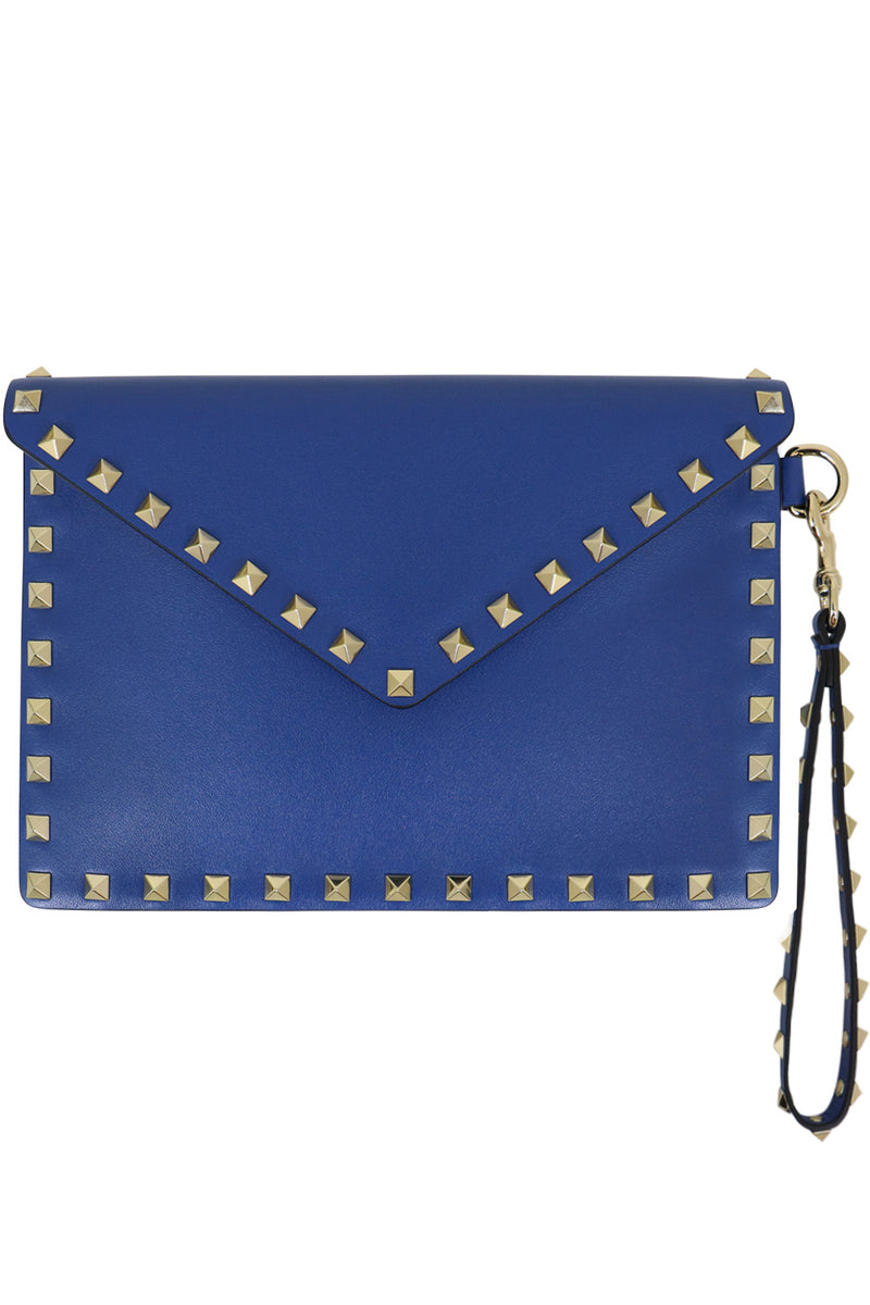 SMALL ROCKSTUD ENVELOPE POUCH SMOOTH LEATHER BALTIQUE