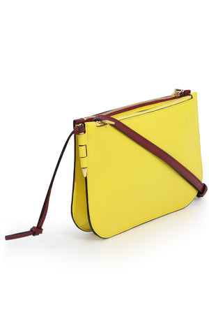 GATE DOUBLE ZIP POUCH WINE/YELLOW