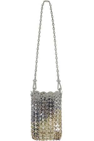 GRADIENT MINI MESH DISC BAG SILVER/GOLD