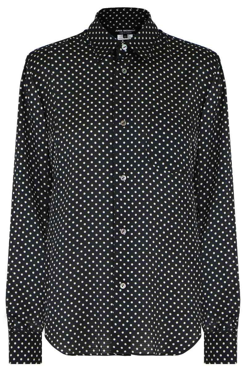 POLKADOT BLOUSE L/S BLACK