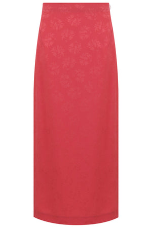 POPPY SIDE SPLIT SKIRT CORAL