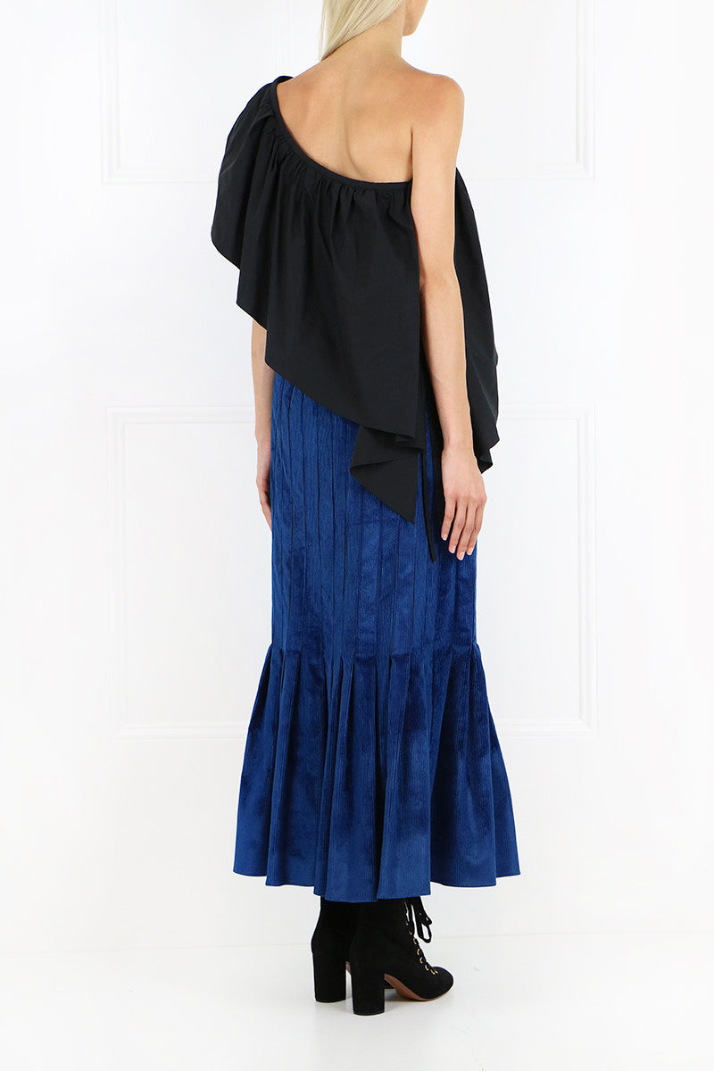 RATIONAL SKIRT VELVET CORD BLUE
