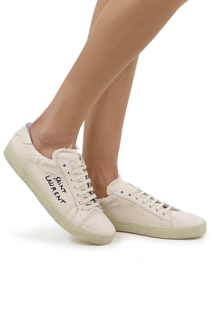 COURT CLASSIC CANVAS SNEAKER WHITE