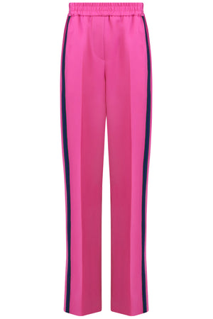 WIDE LEG PANT WITH CONTRAST STRIPE PINK