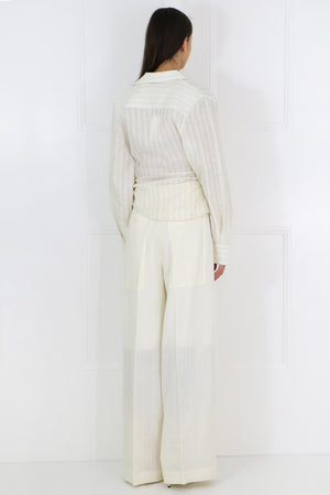 CARINI WIDE LEG PANTS OFF WHITE