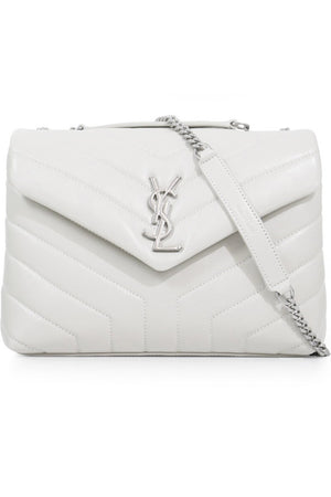 LOULOU SMALL FLAP BAG CREMA SOFT/SILVER