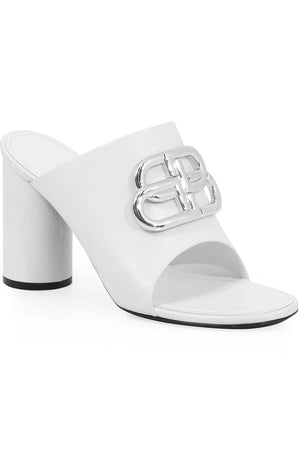 OVAL LOGO MULE 90MM WHITE/SILVER