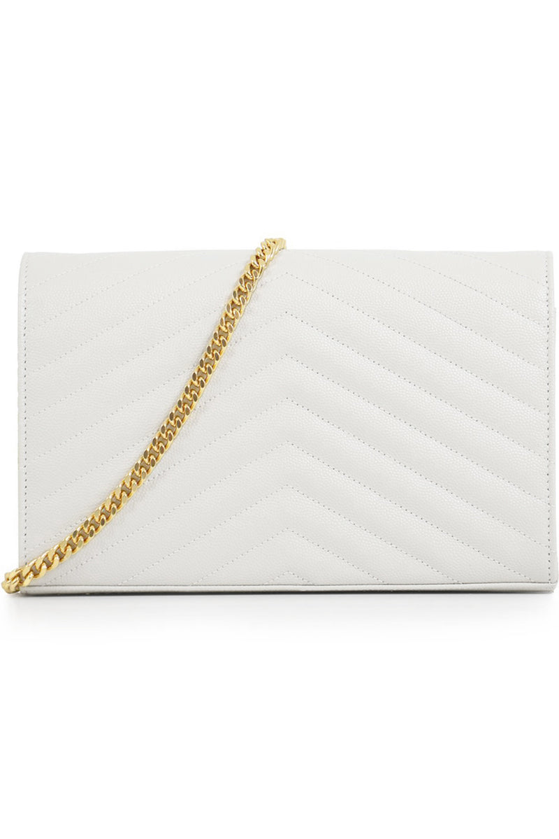 MONOGRAMME QUILTED CHAIN WALLET CREMA SOFT/GOLD
