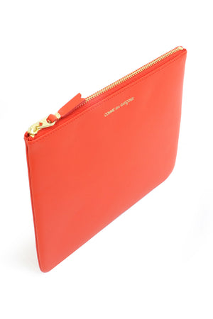 CLASSIC LEATHER POUCH ORANGE