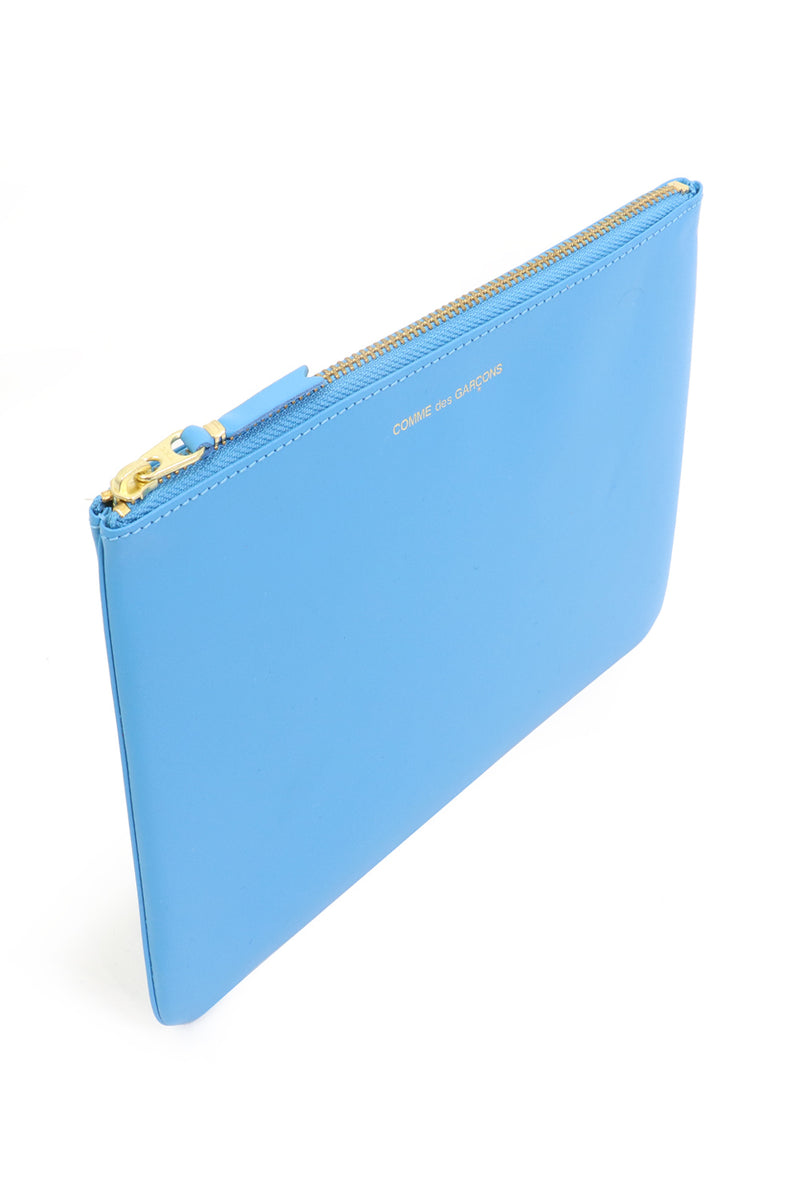 CLASSIC LEATHER POUCH BLUE